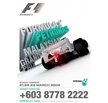 Official Formula 1 Petronas Malaysia Grand Prix Event Poster